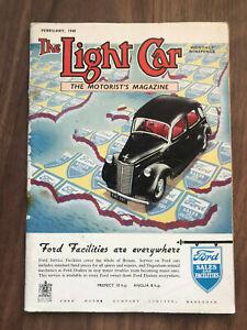 The Light Car Magazine February 1948 Ford dagenham Front Cover