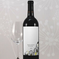 24 Floral Fusion Personalized Wedding Wine Bottle Labels