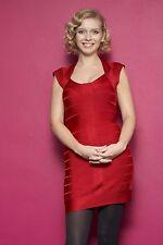 RACHEL RILEY - RED DRESS -  SEXY A4 SIZE GLOSSY PHOTO.