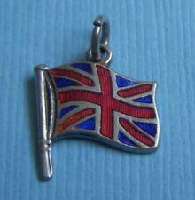 Jack flag sterling charm Vint 00004000 age enamel England Union