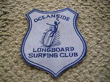 Vintage surfing surfboard jacket patch 1960s oceanside longboard club joel tudor