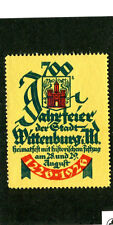 Vintage Poster Stamp Label 1926 Germany 700th Anniversary of WITTENBURG