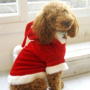 Christmas Santa Hoodie / Santa Suit for Dogs S-3XL; Red Velvet + White Fur Trim