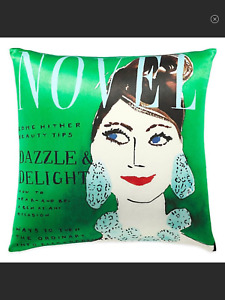 Kate Spade New York Dazzle And Delight Green Silk Pillow Brand New No Flaws NWOT