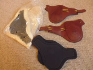 Frank Baines Fetlock Boots detachable sheepskin and neoprene liners brown medium