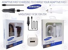 Lot Genuine Samsung Ep-Ln915U Adaptive Fast Charging Car Charger with Usb Cable