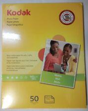 KODAK PHOTO PAPER MATTE 50 SHEETS 8 1/2 x 11 Canon Epson Dell HP  39 lb