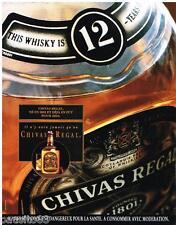PUBLICITE ADVERTISING  105  1992  CHIVAS REGAL  whisky 12 ans age