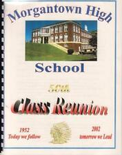RARE 2002 MORGANTOWN WEST VIRGINIA  HIGH SCHOOL CLASS OF 1952 50th REUNION BOOK