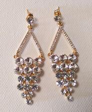 Formal Clear Swarkoski Crystal  Earring Triangular Inshape