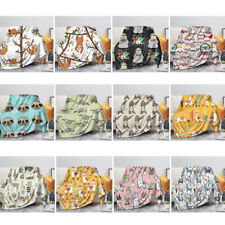 Sloth Blankets Bed Quilts Coral Fleece Thick All Season Plush Rugs Cute for Kids