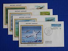 """Canada (873-876) 1980 Military Aicraft Colorano """"Silk"""" FDC set"""
