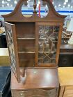 Vintage Chippendale Style Secretary Desk Claw Feet