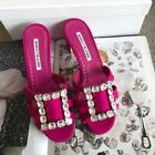 Authentic-Brand-New-In-Box-Manolo-Blahnik-Mules-Pumps-Heels-Shoes-Size-36