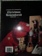 Christmas Remembered Book 6 Leisure Art DIY Merry Christmas ABC Hardcover 1993