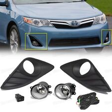 1Set Front Fog lights Lamp & Cover & Switch OEM for 2012 2013 2014 Toyota Camry