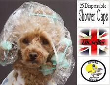 25 x usa e getta in plastica Cuffie per la doccia Chiaro Abbronzatura Spray Abbronzante Spa Salone Capelli Netto