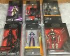 (6) Star Wars Black Series 6 inch Figures, Jedi Revan, Purge Trooper,Mandalorian