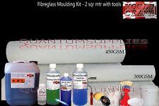 Fibreglass 1 Metre Mould making kit + Tools Pack - Resin, Gelcoat, Matting, Wax