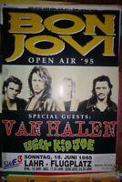 3x Plakat BON JOVI VAN HALEN UGLY KID JOE Open Air 1995 Poster ca. 86x56