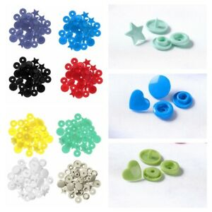 4 Sets Star Shaped Plastic Clips Snap Buttons Press Stud Fastener Clothes Sewing