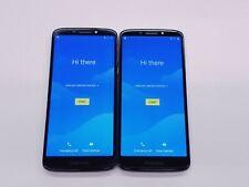 *Google Locked Lot of 2 Motorola Moto E5 Xt1920Dl (TracFone) Smartphones 2 Total