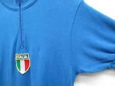 D'Allessandro Italia Men's Short Sleeve Biking Riding 100% Virgin Wool Shirt L