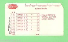 #D121. 1970s UNUSED  RUGBY LEAGUE FOOTYTAB TICKET