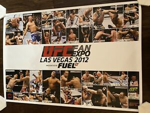 Lot Of 2 Different UFC Fan Expo Full Sized Posters Las Vegas