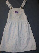 Vintage OSH KOSH B'GOSH Lt Purple/Lavender Color Jumper DRESS - FLORAL Pattern