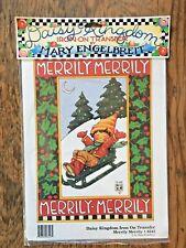 New Mary Englebreit Iron On Transfer Daisy Kingdom Christmas Merrily 6543