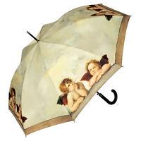 Regenschirm Stockschirm Damen Herren Kunst Motiv Geschenk beige Raffael Engel