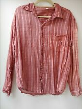 Stripey Red Cotton Shirt From India Size S
