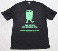 Sport Tek Graphic Tee Shirt Large Black Green Short Sleeve Polyester T-Shirt