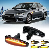 Sequential Amber LED Front Side Marker Lights For Mitsubishi Lancer Evo X Mirage