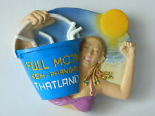 Blue Beach Full Moon Party Koh Phangan Island Thailand Souvenir Fridge Magnet