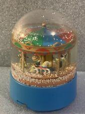 Vintage Willitts Peanuts Carousel Musical Snow Globe Plays Carousel Waltz