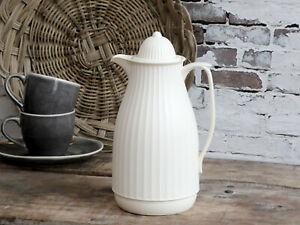 Chic Antique Thermoskanne  Isolierkanne Landhaus  Creme, Mint, Grey