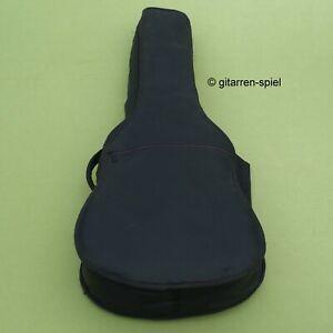 3/4 bis große 1/2 Gitarren-Tasche Gigbag gepolstert Gurte Notenfach schwarz Top