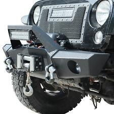07-18 Jeep Wrangler JK Front Bumper Rock Crawler with Fog Light Housing