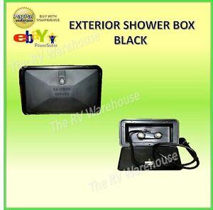EXTERIOR SHOWER BOX BLACK RV CARAVAN MOTORHOME PLUMING CAMPER JAYCO BOAT PARTS