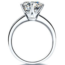 1Ct Round Cut Solitaire Engagement Wedding Ring 14K White Gold Finish Sz7.0