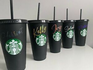 personalised Starbuck tumbler with straw / personalised Gift / Reusable cold Cup