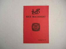 Monitor Rice Machinery Huntley Mfg Co Silver Creek Ny Catalog Brochure Antique