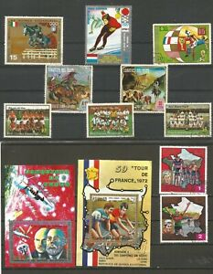 Guinea Equatorial Mixed sports stamps