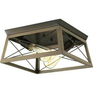 Briarwood Collection Two-light Flush Mount