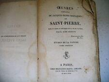 OEUVRES BERNARDIN DE SAINT PIERRE T. 1 études de la nature 1818