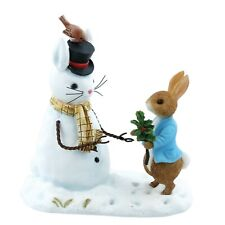 Beatrix Potter Peter Rabbit & Snow Rabbit Christmas Ornament Figurine A28965