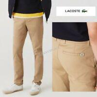 "LACOSTE Chino Jeans Slim Fit Stretch W33"" L33"" Kraft *BNWT* Beige RRP;£100"