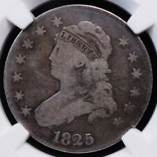 1825 CAPPED BUST QUARTER NGC VG 10 THE PERFECT CIRC IN A PLEASING LIGHT GREY
